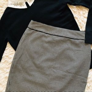 Banana Republic Houndstooth Pencil Skirt